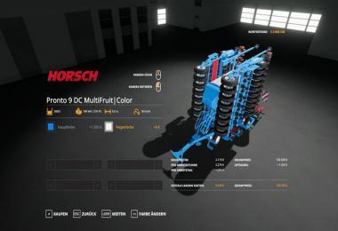 Horsch Pronto9DC - MultiFruit - MultiColor v1.2