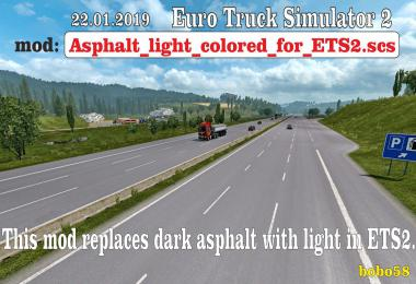 Road asphalt for ETS2 1.33.x