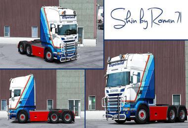 Scania RJL Espeland skin 1.33.x