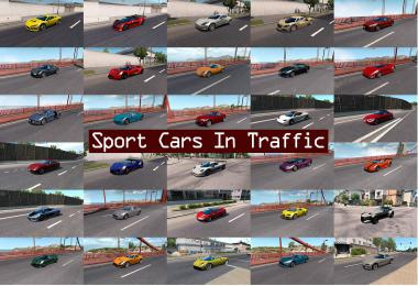 Sport Cars Traffic Pack (ATS) by TrafficManiac v2.8