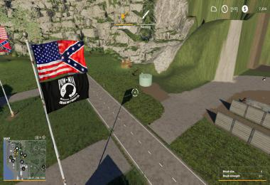 USA/Confederate battle flag over POW MIA v1.0