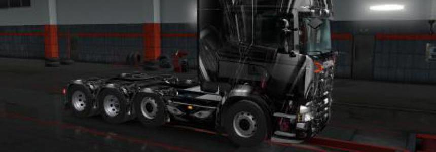 Black and White skin for Scania RJL v1.0
