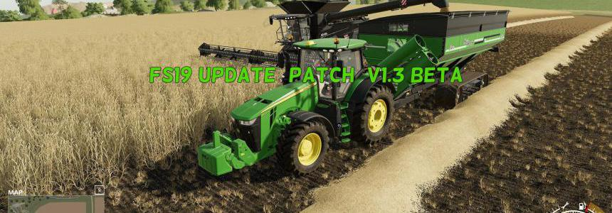 FS19 Update (patch) V1.3 Beta