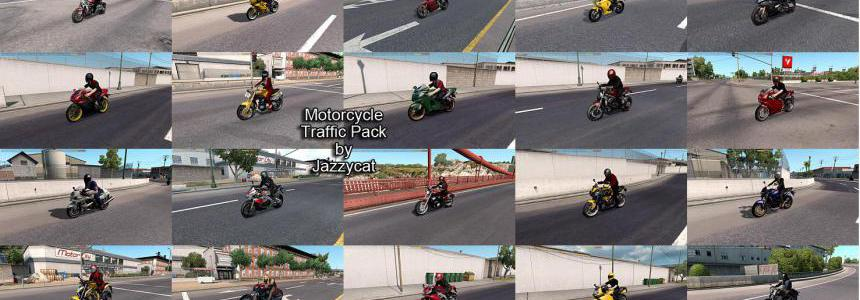 Motorcycle Traffic Pack (ATS) by Jazzycat v2.3