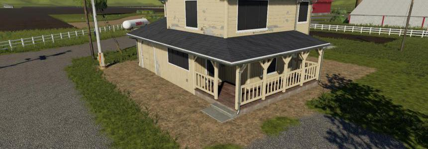 Placeable 4 bedroom house with sleep trigger v1.0