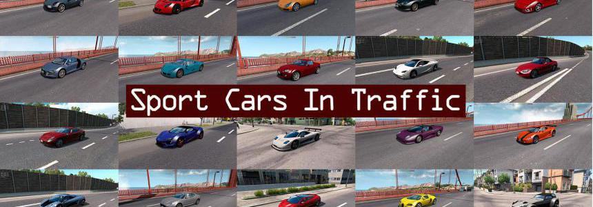 Sport Cars Traffic Pack (ATS) by TrafficManiac v3.1