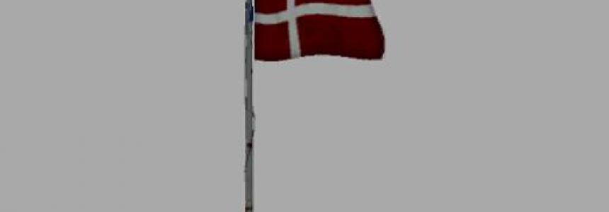 USA over Denmark Flag v0.0.0.1