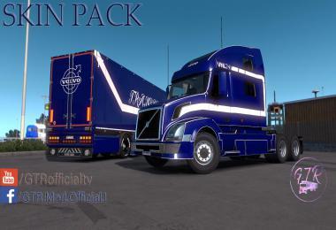 Skin Pack for Volvo VNL and Standard Trailers v1.0