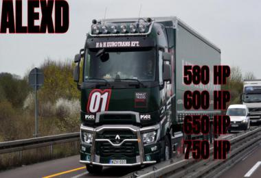 ALEXD Renault Range T New Engine 580-750HP v1.3
