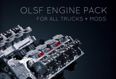 [ATS] Engine Pack 38 for all Trucks + mods by OLSF 1.34.x