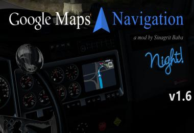 ATS - Google Maps Navigation Night Version v1.6