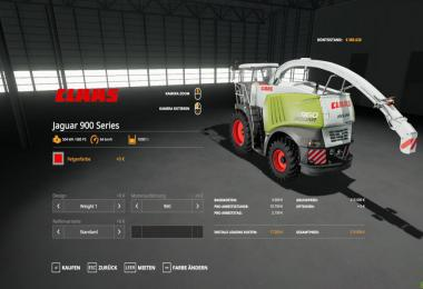 Claas Jaguar 900 Series Beta