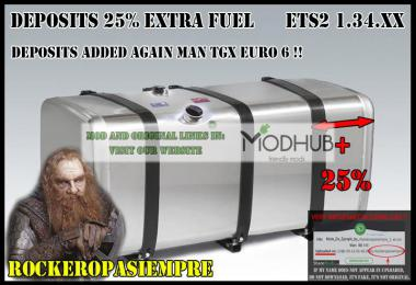 Deposits 25% Extra Fuel by Rockeropasiempre Ets2 1.34.x