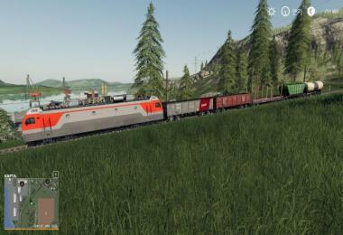 Electric locomotive and railways cars v1.0