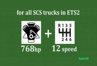 Engine + gearbox for ETS2 1.34.x