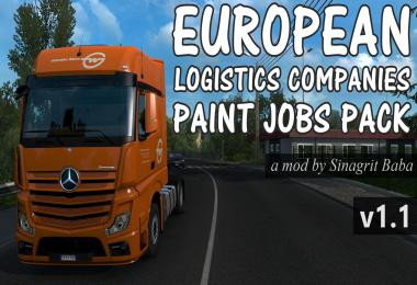 European Logistics Companies Paint Jobs Pack v1.1