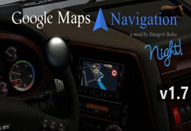 ETS 2 - Google Maps Navigation Night Version v1.7