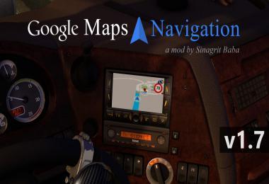 ETS 2 - Google Maps Navigation v1.7