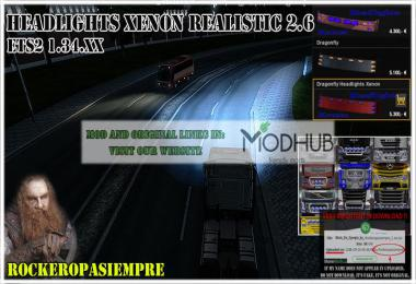 Headlights Xenon Realistic and Visors Rockeropasiempre v2.6