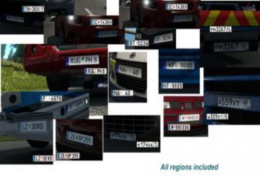 License Plates for default Map of ETS2 1.33.x