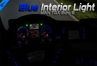 MAN TGX Euro 6 Blue Interior Light 1.34