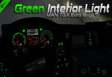 MAN TGX Euro 6 Green Interior Light 1.34