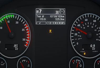 MAN TGX Euro 6 Realistic Dashboard Computer 1.34