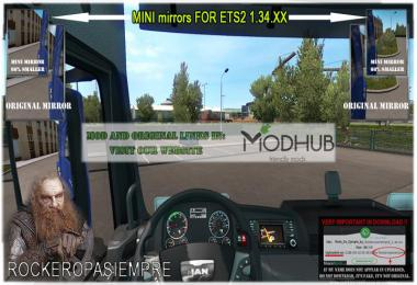 Mini mirrors for ETS2 1.34.x