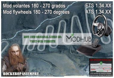 Mod for Steering Wheel of 180-270 Degrees for ETS2 1.34.x