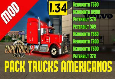 Pack Trucks American ETS2 1.34