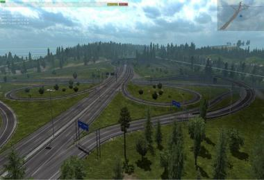 Rotterdam Brussel Highway + Calais Duisburg Road Interchange v2.2