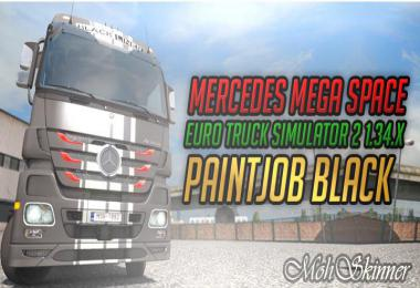 Skin Mercedes MP3  - Paintjob Black - ETS2 1.34