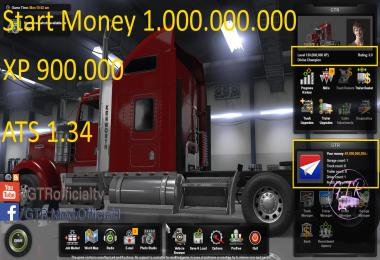 Start Money and xp for ATS 1.34.x