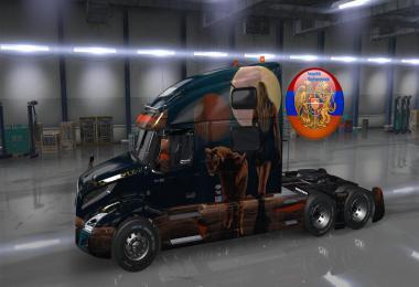 Volvo truck vnl 2018 Tigress skin pack 1.34.x