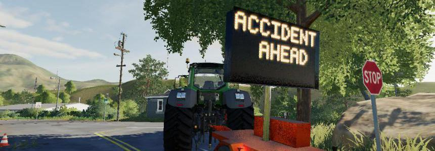Accident ahead sign beta