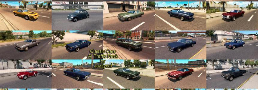 Classic Cars AI Traffic Pack by Jazzycat v3.1