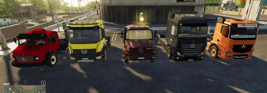 FS19 Mods Pack - Mercedes Trucks Pack v1.0