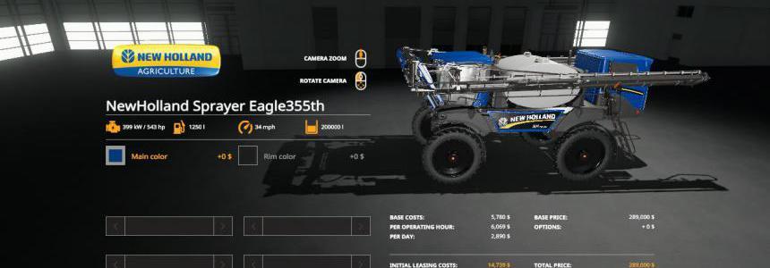 FS19 New Holland Sprayer Eagle355th v1.0