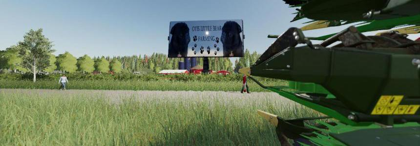 FS19 Otis Little Bear Billboard v1.0