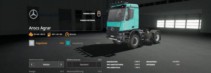 Mercedes Arocs Agrar v3.0