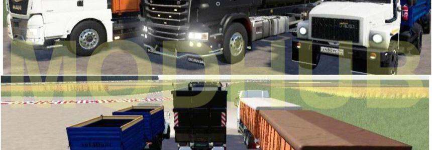 Pack dump trucks with trailers v1.0