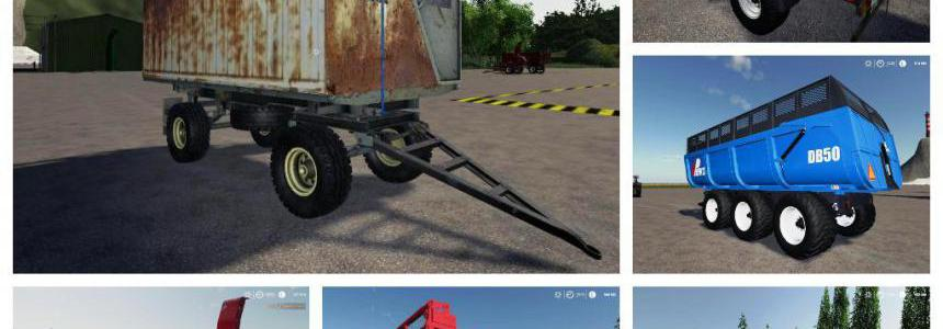 Pack trailers for tractor v1.0
