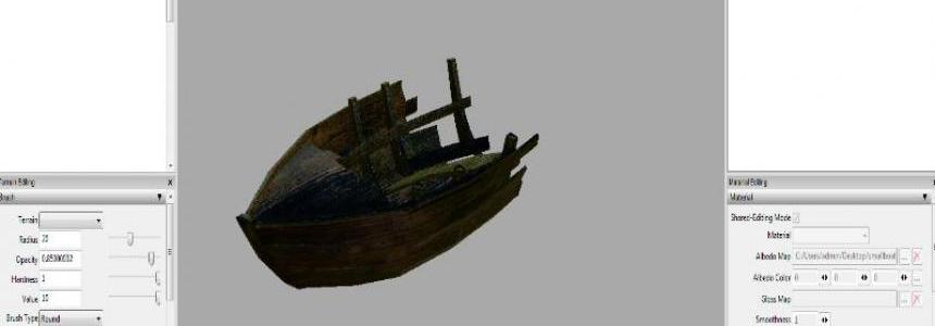 Small boat wreckage prefab v1.0