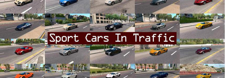 Sport Cars Traffic Pack (ATS) by TrafficManiac v3.3