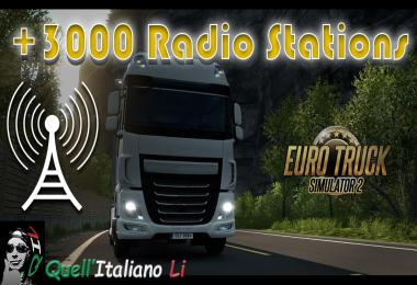 +3000 Radio Stations for Euro Truck Simulator 2 v1.0