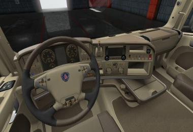 Scania R Lux Beige Leather Interior 1.34.x