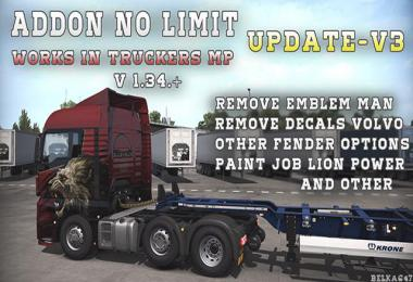 BC-Addon no limit [Works at Truckers MP] v3.0 1.34.x