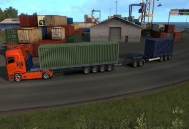 Flatbed with Krone Boxliner High Capacity MP-SP 1.34.x