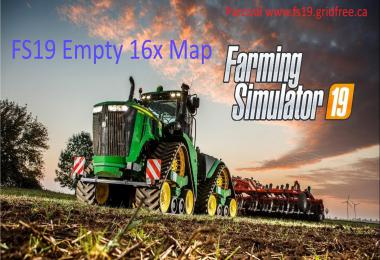 FS19 16x empty map v1.0