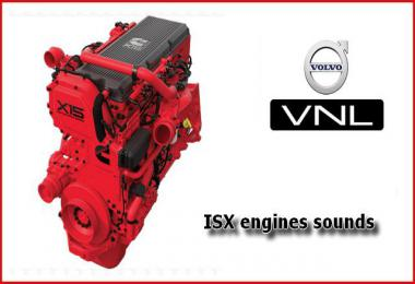 ISX Engines sounds mod for SCS Volvo VNL v1.2